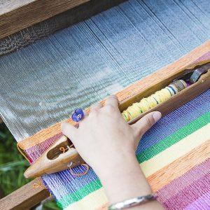 process of weaving corduroy