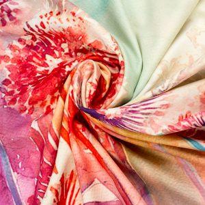cashmere-silk mix printed scarf