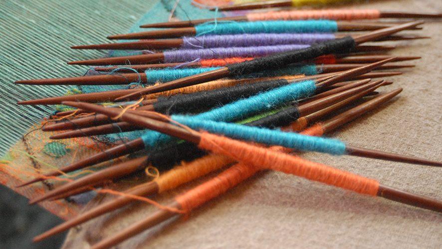 spindles of cashmere fibre