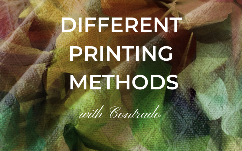 different printing methods with contrado