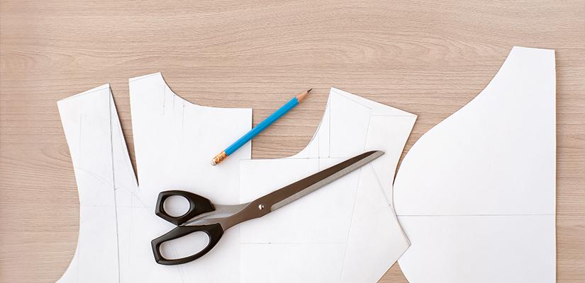 pattern and scissors