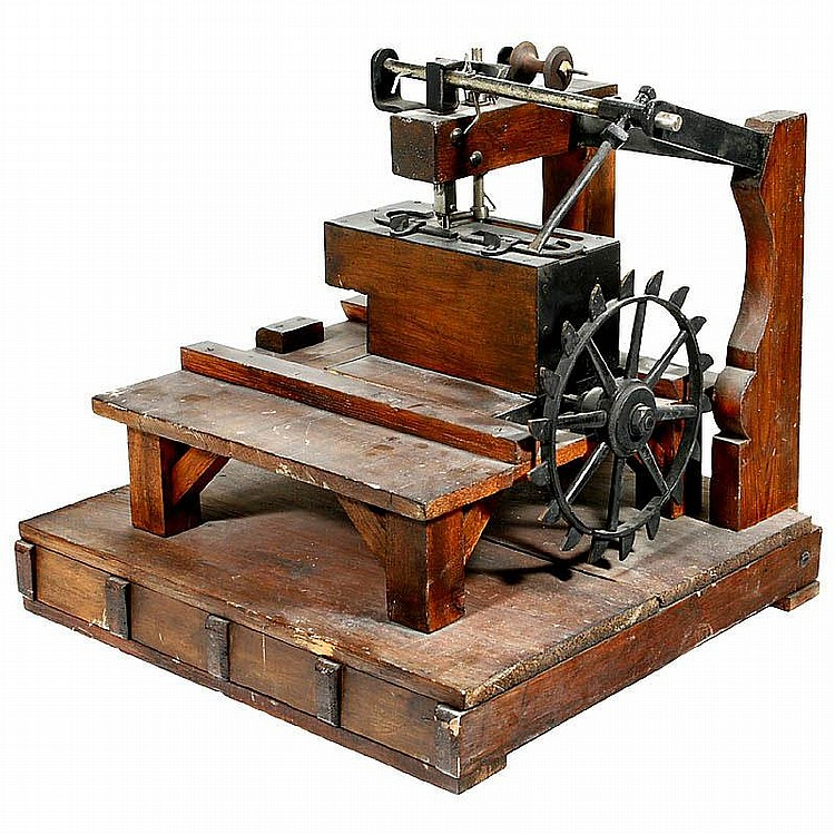 Newton Wilson's model of Thomas Saint's Sewing Machine design