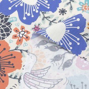 print on poplin fabric