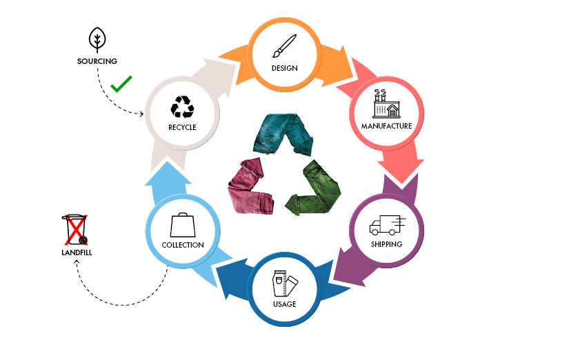 the circular fashion cycle infographic