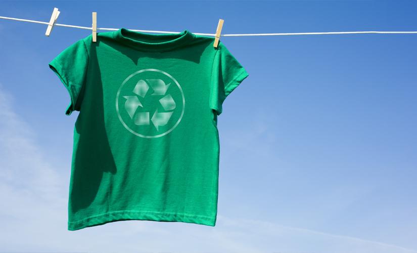 T-shirt on washing line