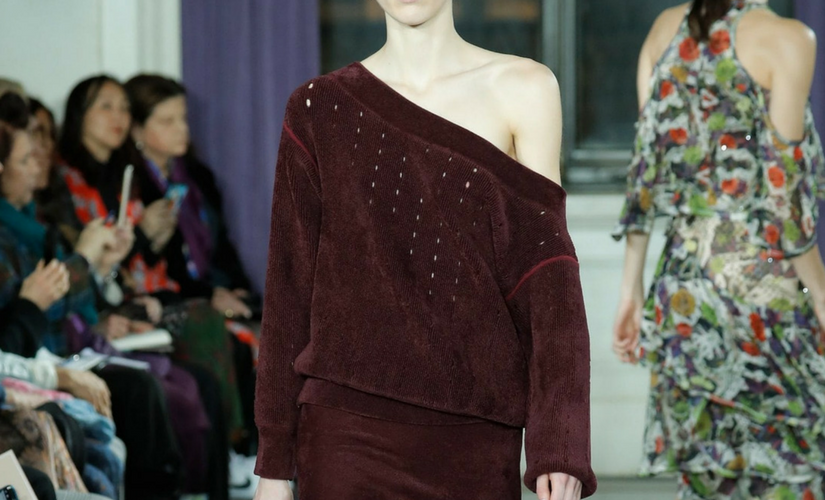 chenille on a runway
