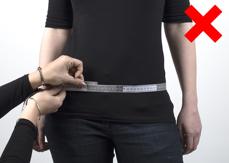 incorrect way to measure hips