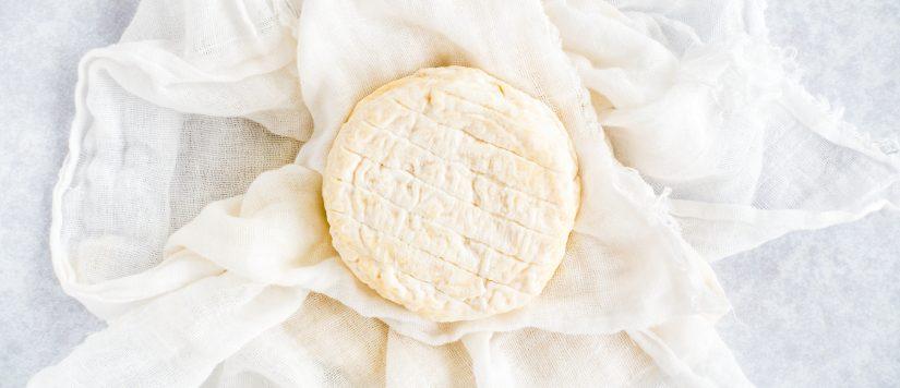 cheese in muslin cloth