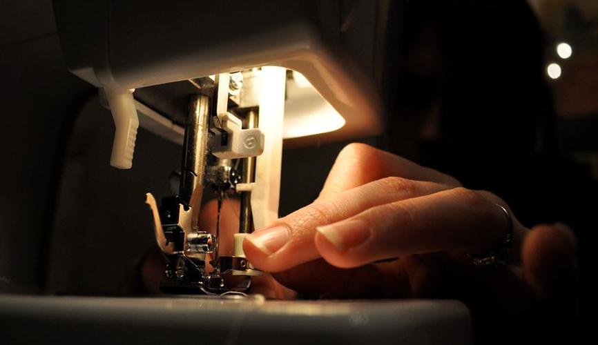 sewing late at night