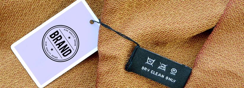 brand label on clothing