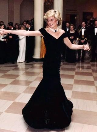 What is Velvet? Princess Diana in A Velvet Dress