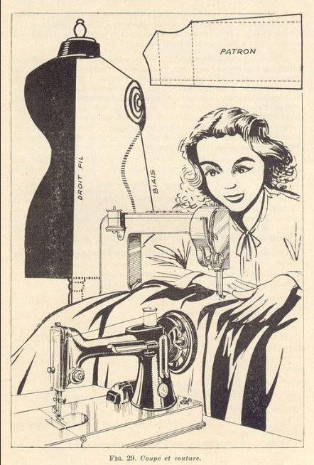 vintage taffeta sewing