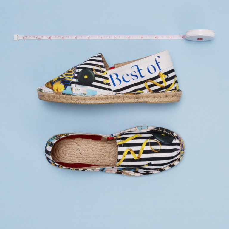 personalised espadrilles product photograph