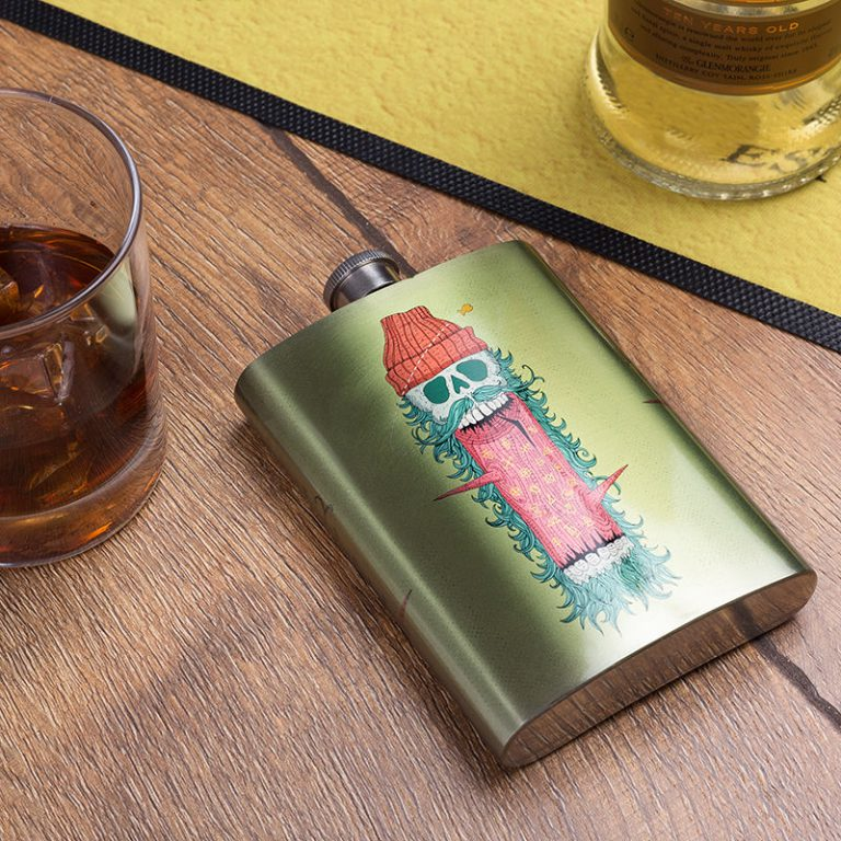 hip flask product photograph